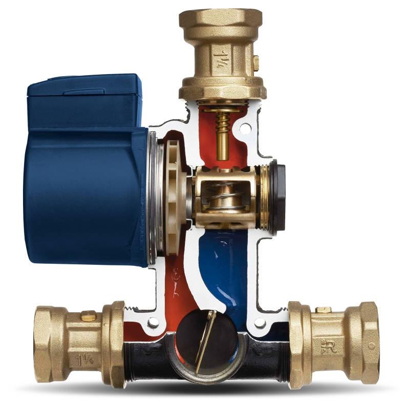Термосмесительный узел Vexve Termovar 50 кВт. 61°C DN32 - 1