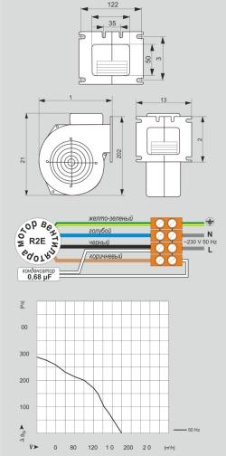 Вeнтилятор М+М WPA 117 с диафрагмой - 3