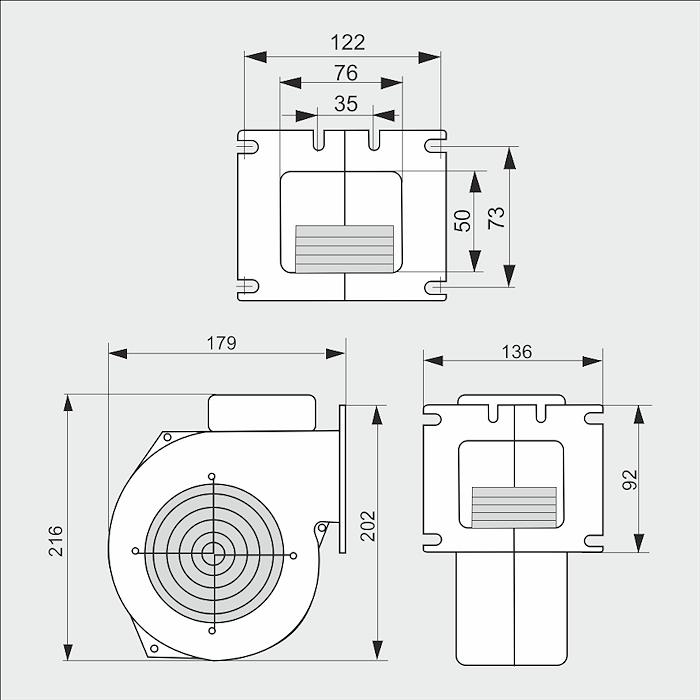Вeнтилятор М+М WPA 120 с диафрагмой - 1