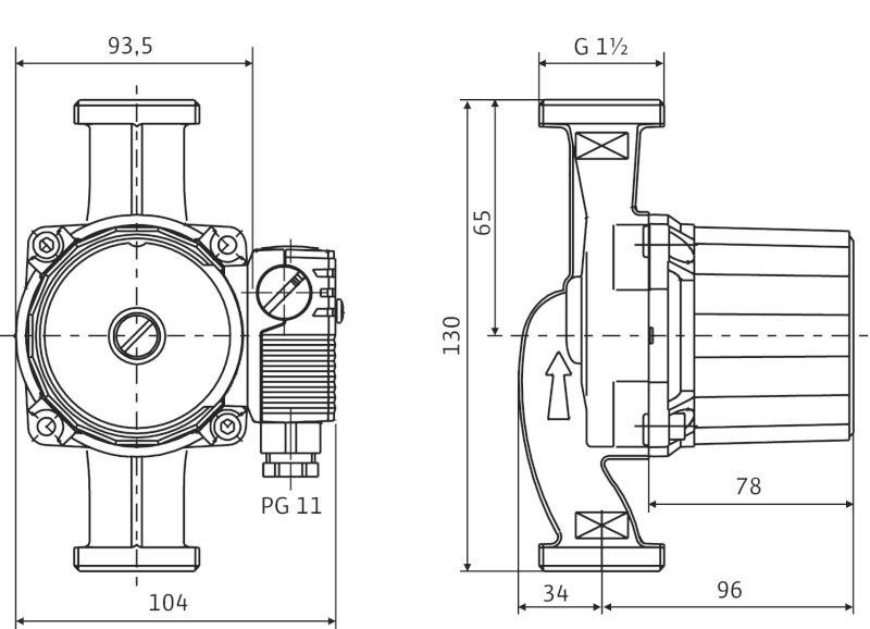 Циркуляционный насос Wilo-Star-RS 25/4-130 - 1