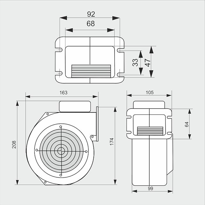 Вeнтилятор М+М WPA-06K - 1