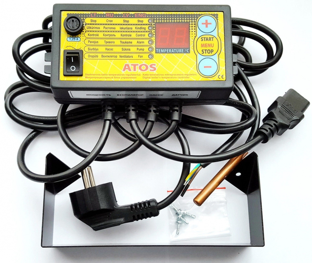 Комплект автоматики Atos и вентилятора WPA X2 - 2