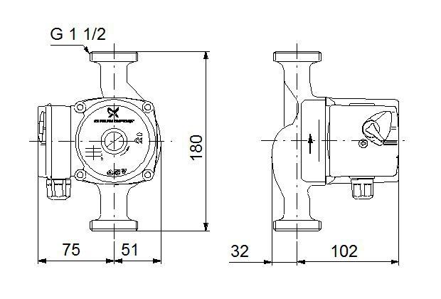 Циркуляционный насос Grundfos UPS 25/4 180 - 2