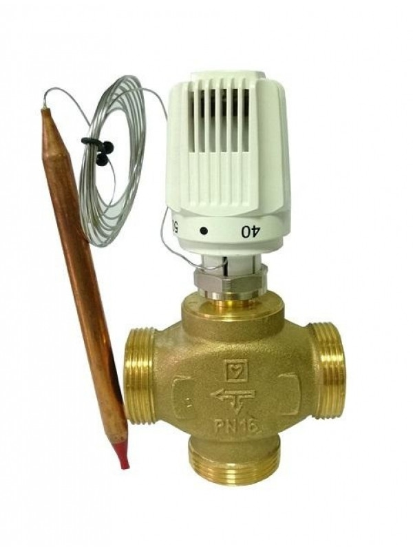 Головка термостатическая HERZ 40-70С° с накладным датчиком - 1